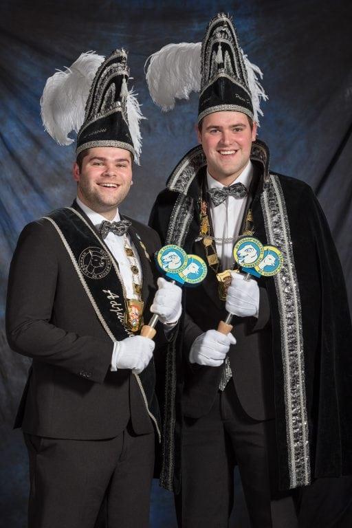 Jeugdprins Niels & adjudant Rien